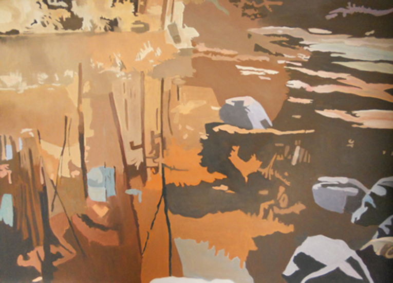 """Fading Light  , 1998, Oil on linen, 36"""" x 50"""""""