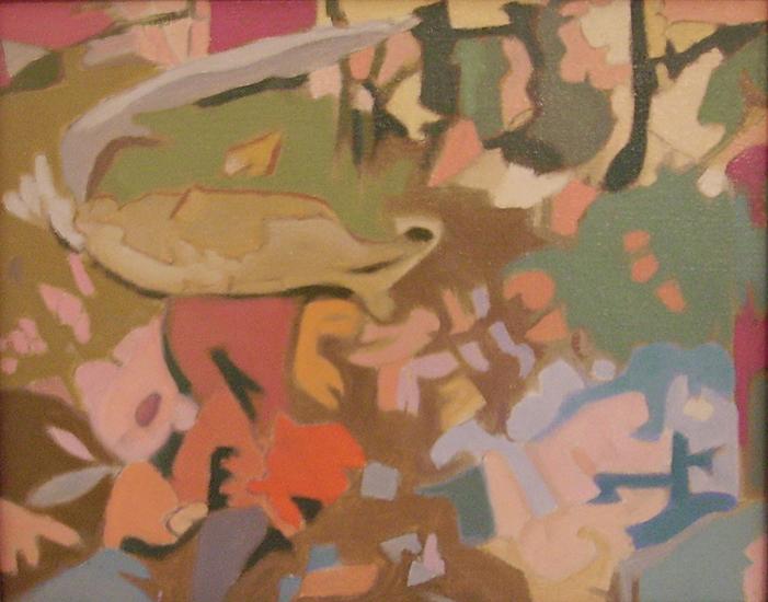 "Reflection II  , circa 1990, Oil on linen, 8"" x 10"""