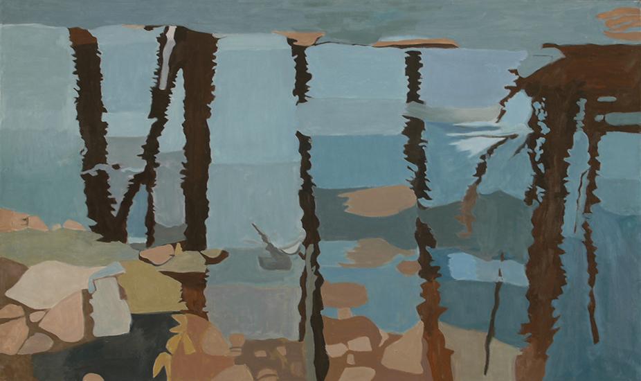 "Black Reflection  , 1997, Oil on linen, 24"" x 40"""