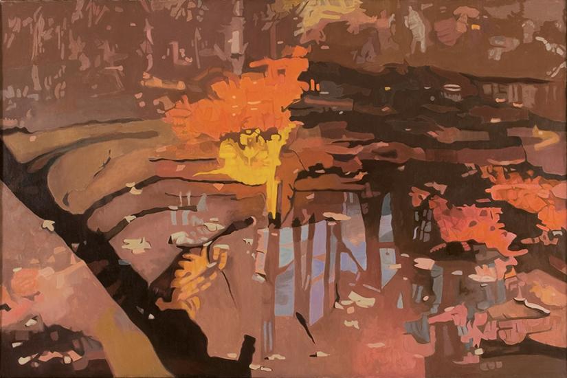 """Shadow II  , 1994, Oil on linen, 40"""" x 60"""""""