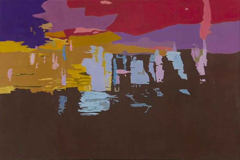 """Dark River Bottom,   1997, Oil on linen, 40"""" x 60"""""""