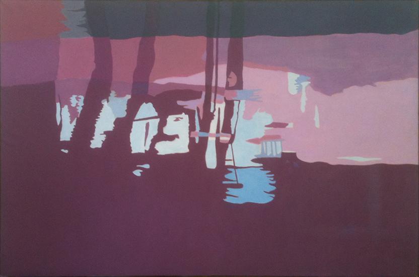 "Red Stream II  , 1997, Oil on linen, 40"" x 60"""