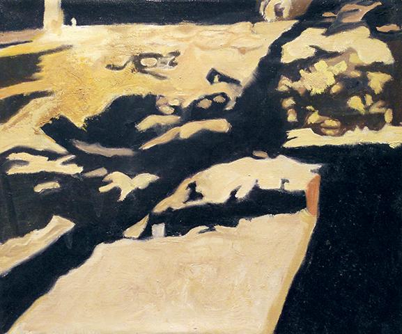 """Shadows  , 1996, Oil on linen, 10"""" x 12"""""""