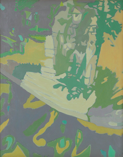 "Apple Tree in Yellow  , 1990, Oil on linen, 20"" x 16"""