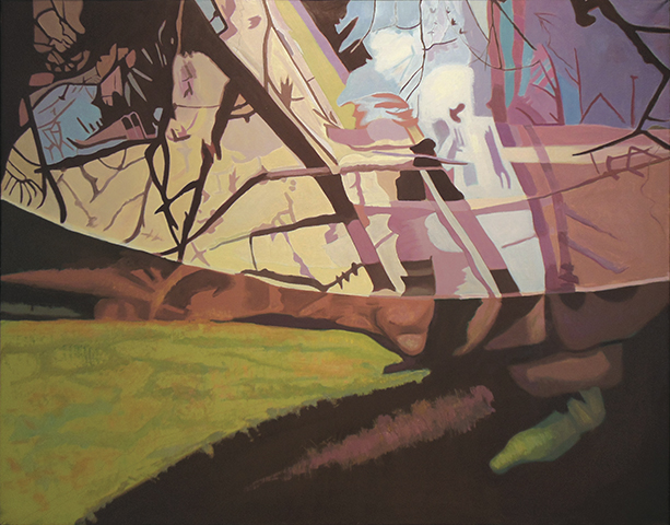 "Net  , 1993, Oil on canvas, 40"" x 50"""