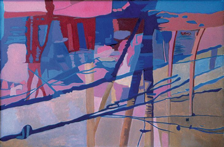 """Sunset on the Stream  , 1994, Oil on linen, 26"""" x 40"""""""