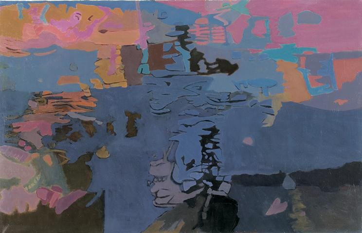 "Wind Song  , 1996, Oil on linen, 26"" x 40"""