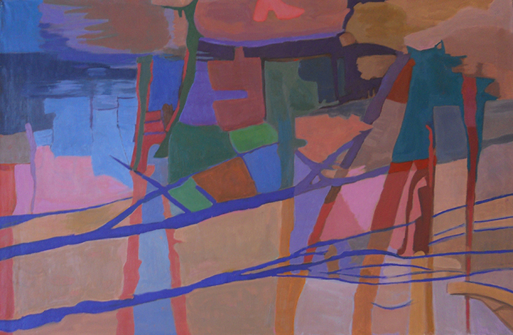 """Water Shadows  , 1994, Oil on linen,26"""" x 40"""""""