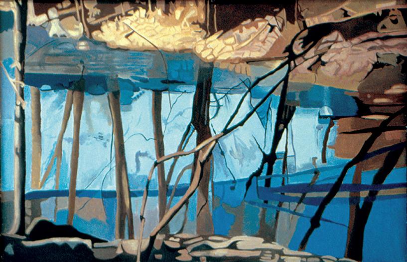 "Through the Trees  , 1994, Oil on linen, 26"" x 40"""