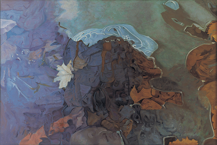 "Enigma  , 1982-83, Oil on linen, 47"" x 70"""