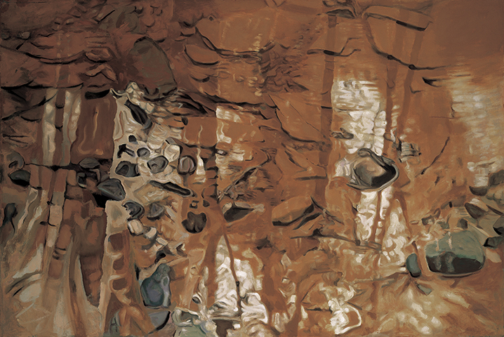 "Rocks  , 1983, Oil on linen, 40"" x 60"""