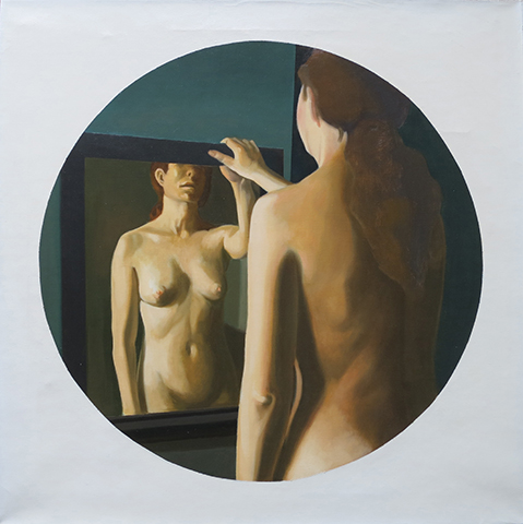 "Diane  , 1970-75, Oil on linen, 24"" x 24"""