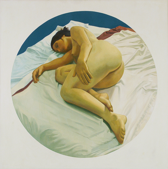 "Wendy,   1973, Oil on linen, 36"" x 36"""