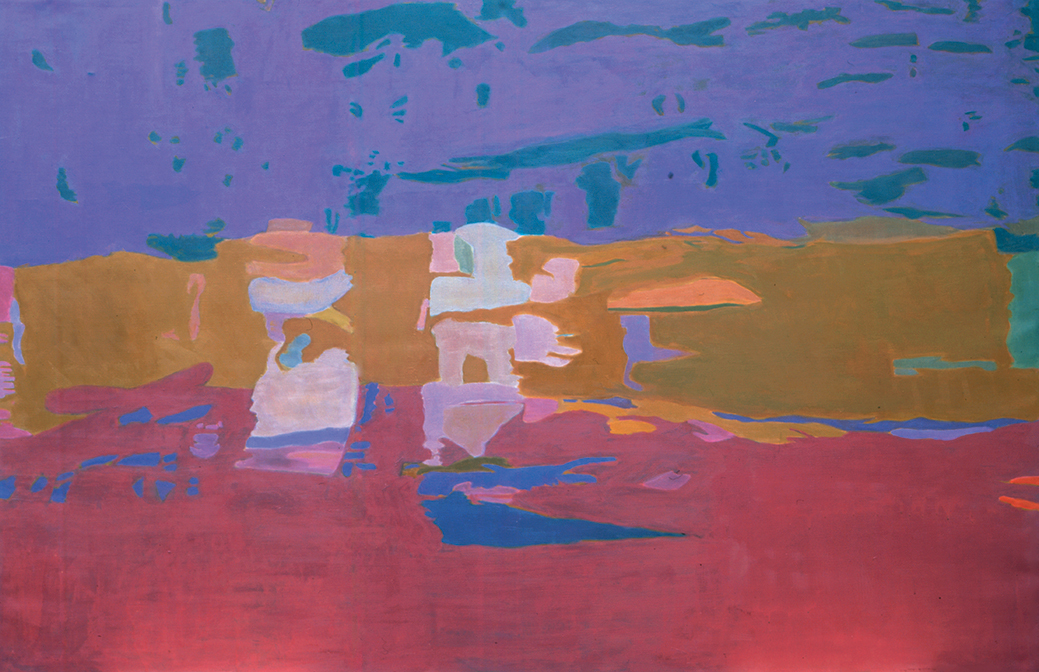 "Floating in the Stream,  40"" x60"", Oil on Linen, 1997"