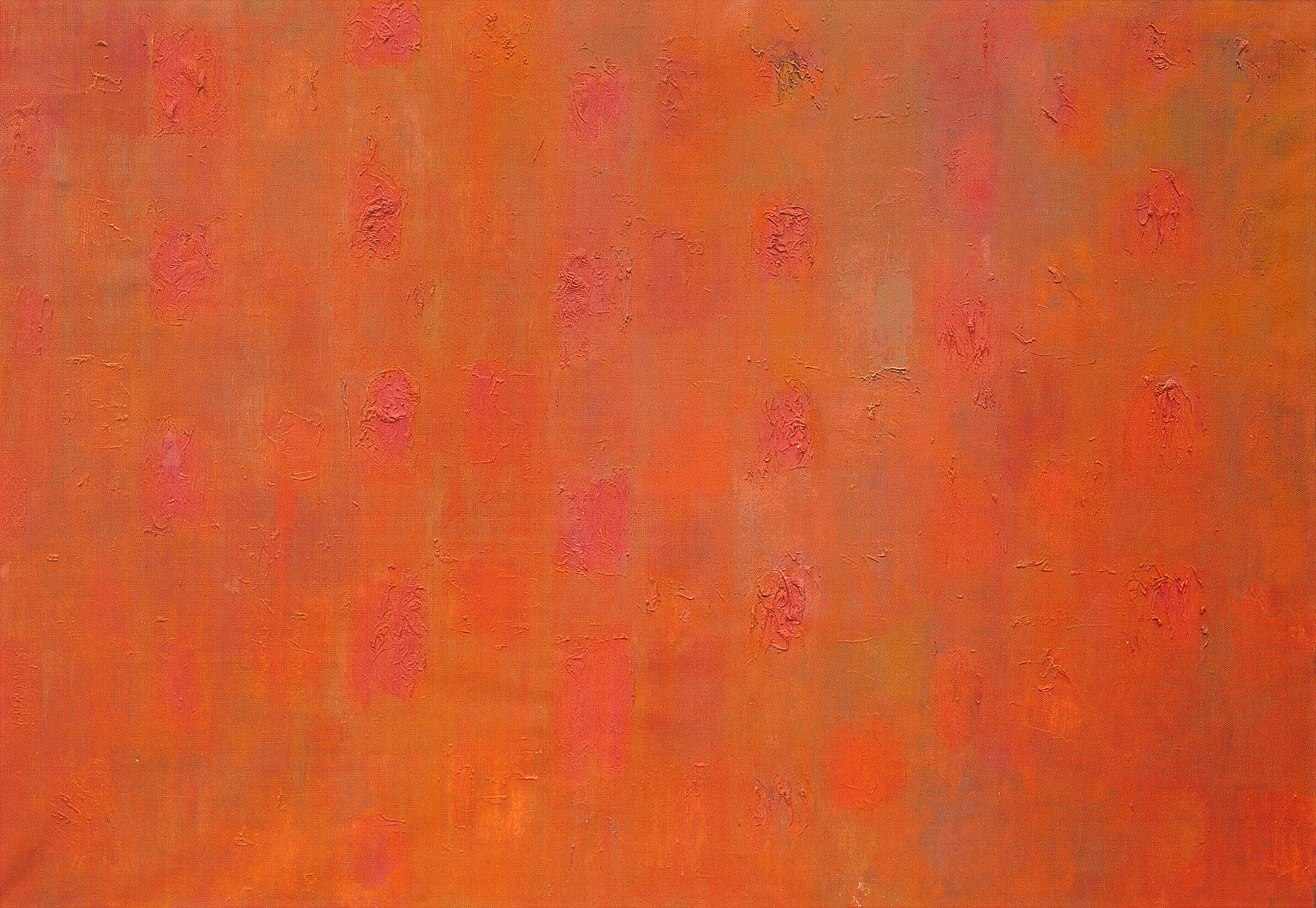 "Orange  Oil on Canvas, 50"" x 72"", 1953"