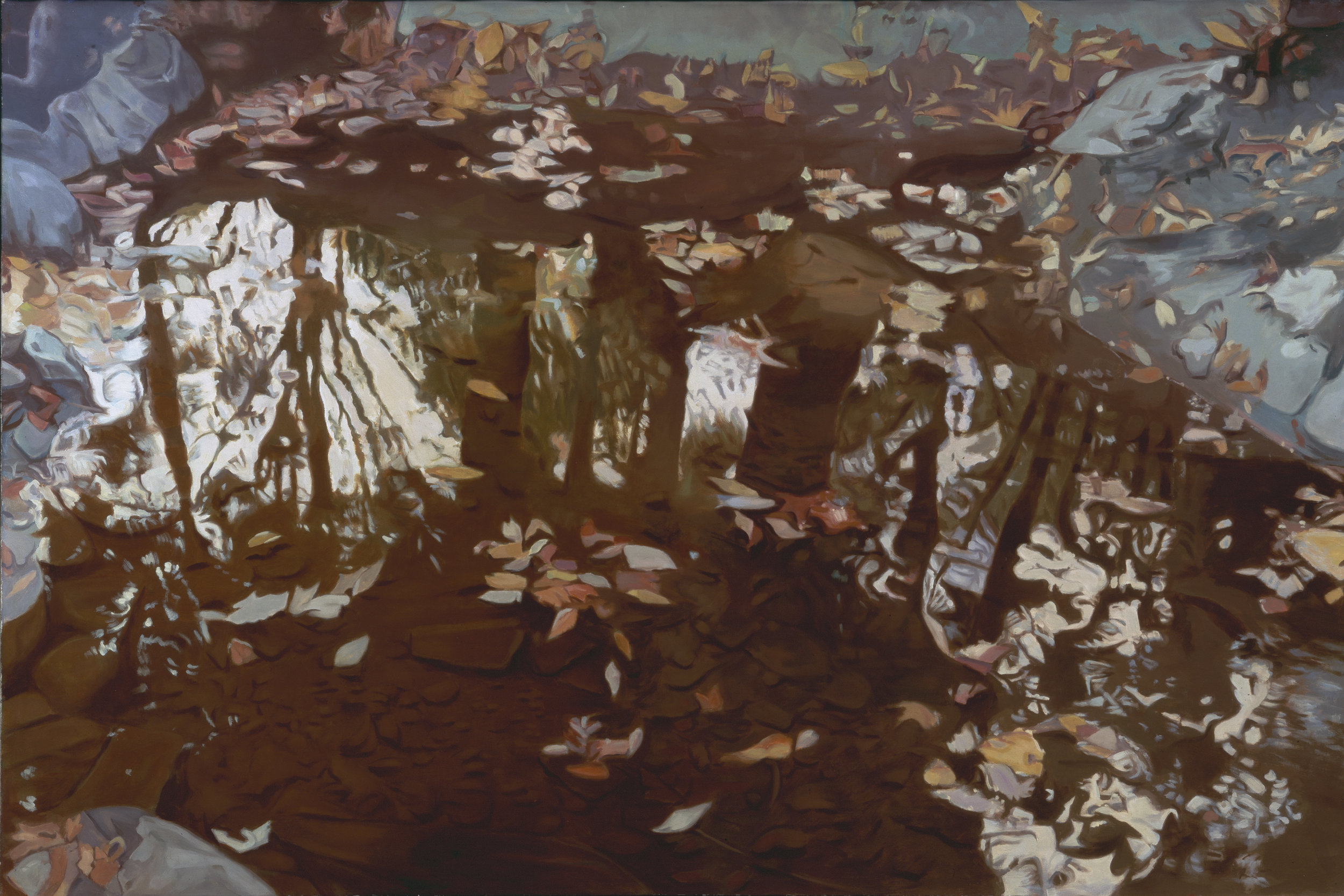 "Fall Reflections  Oil on Linen, 40""x60"", 1978"