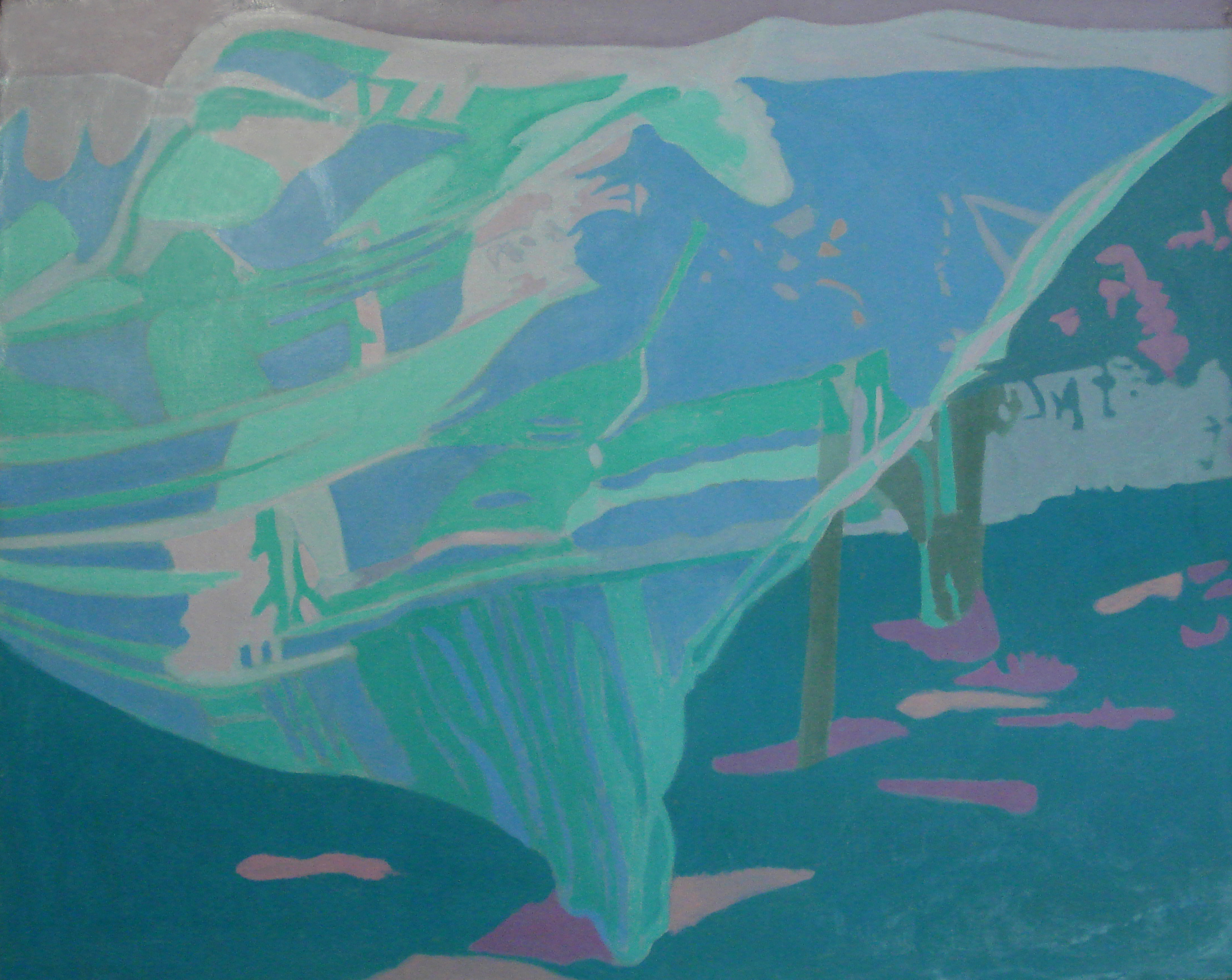"Sheet on the Apple  Oil on Linen, 24""x30"", 1990"