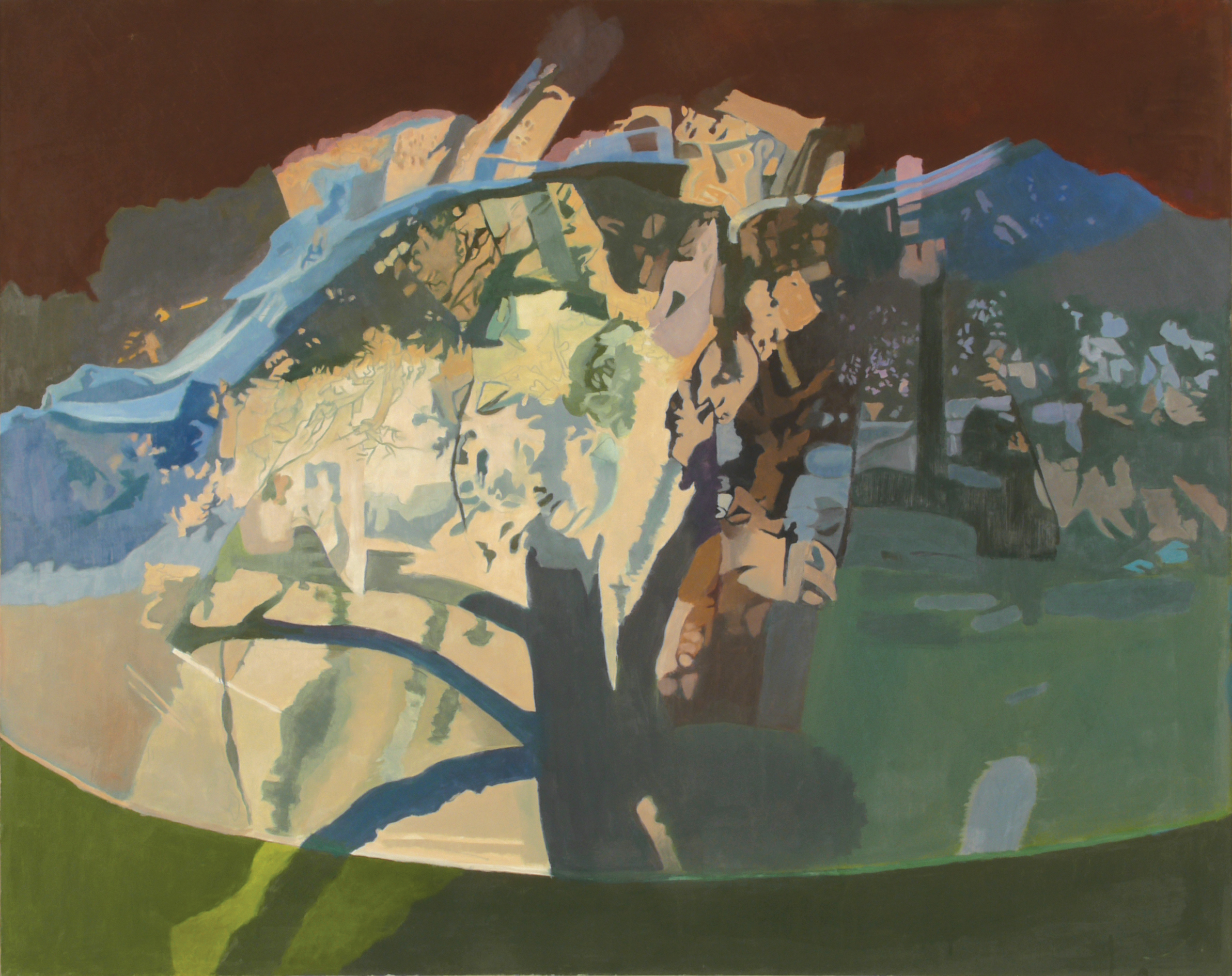 "The Covered Apple Tree  Oil on Linen, 40""x50"", 1994"