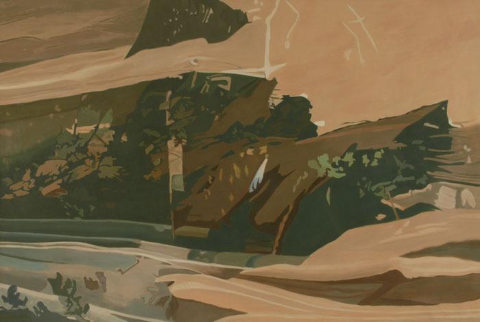 """Apple Tree Net II 47"""" x 70"""", Oil, 1990"""