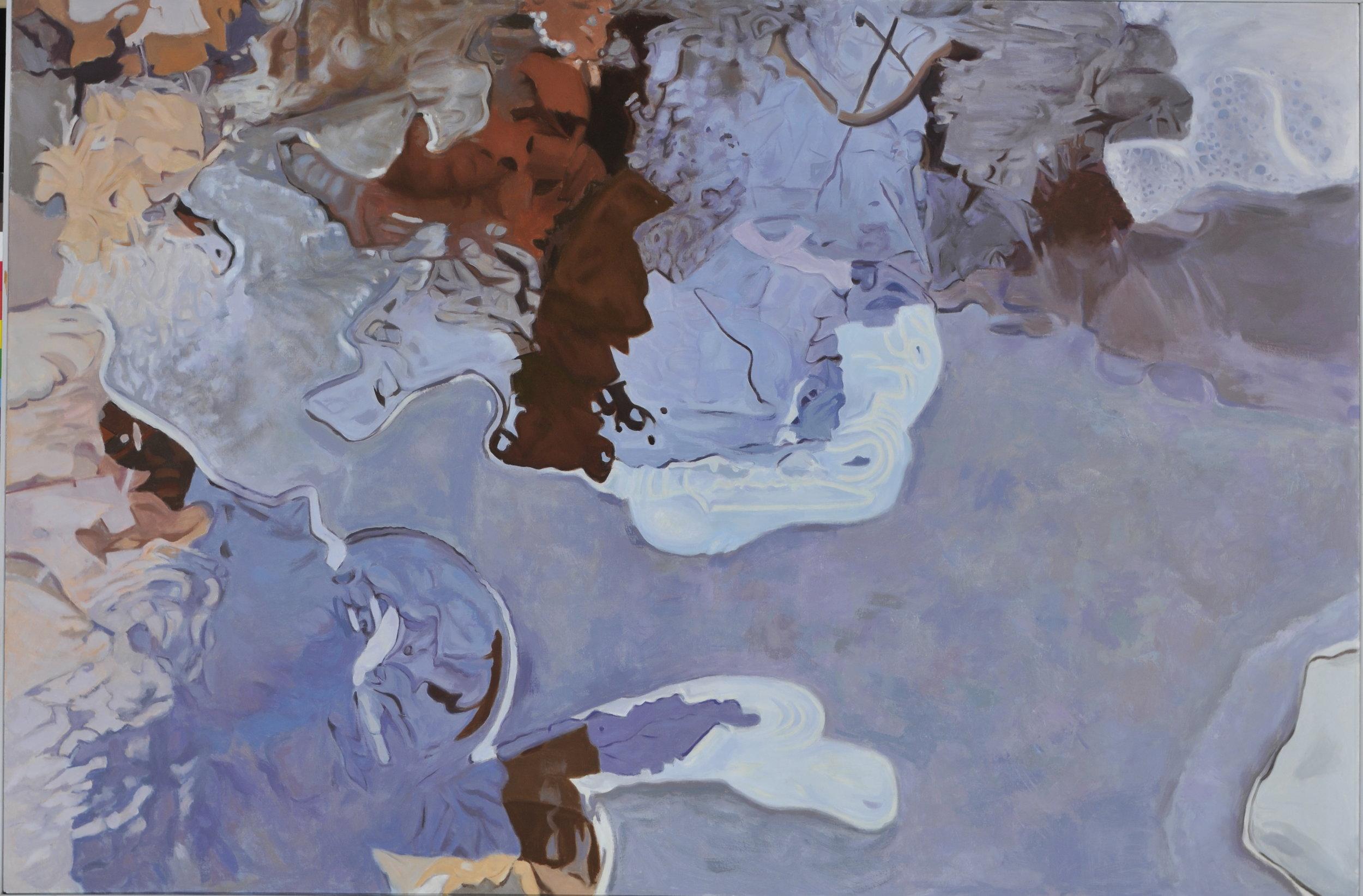 """Wan in Winter  48"""" x 70"""", Oil, 1982"""