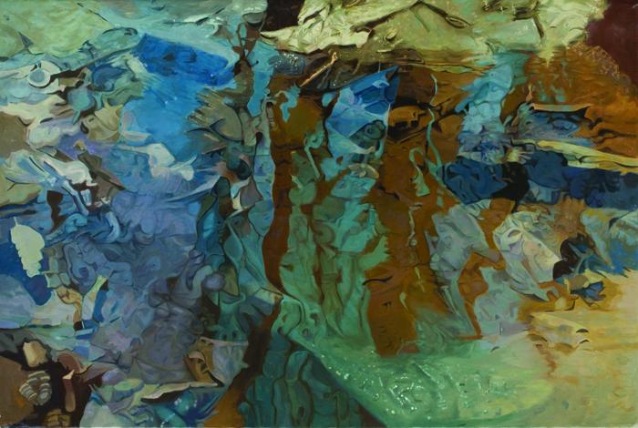 """Straylight , Oil on Linen, 47"""" x 70"""", 1983"""