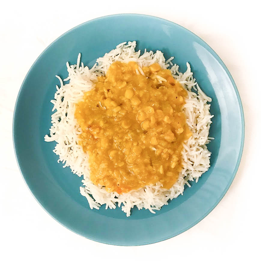 Mixed daal with basmati rice