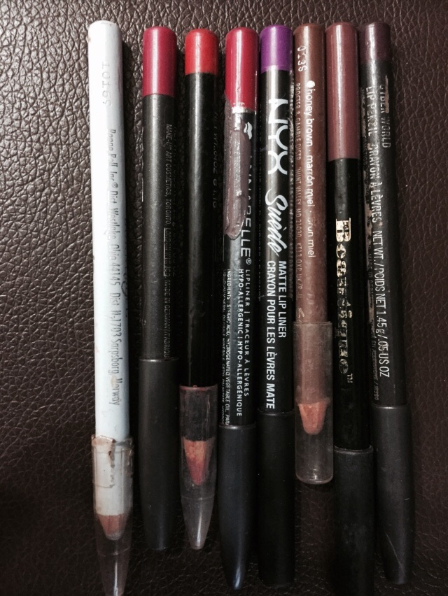 These were the collection of colour range I had in my purse