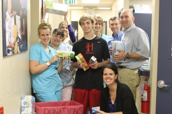 February 2012 Newsletter - Supply drive restocks Grace shelves, GMH expands specialty care for Orlando's uninsured, A Face of Grace.