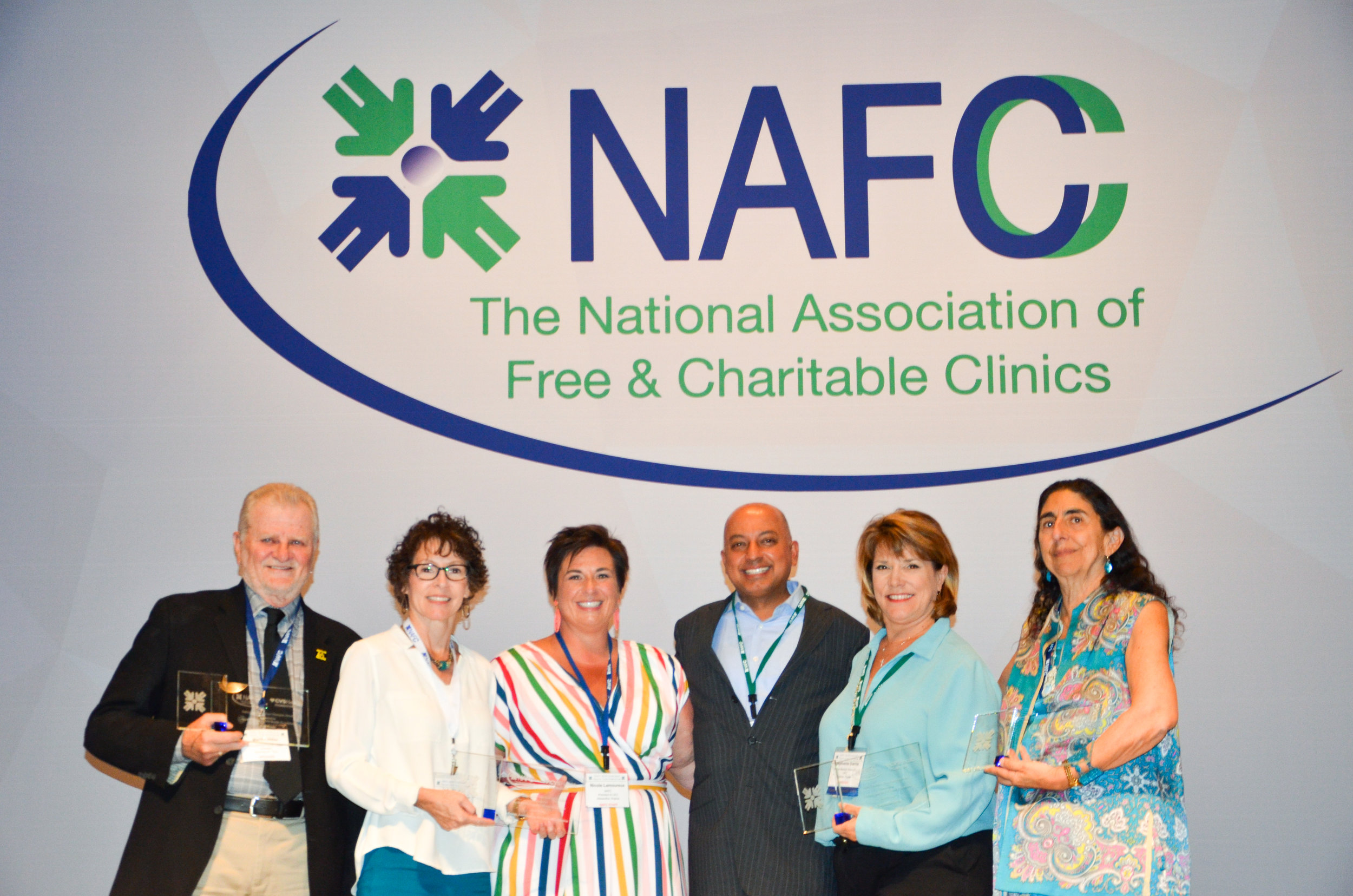 NAFC Awards Executive Director Stephanie Garris as one of their Safety Net Health Care Champions - November 8, 2018