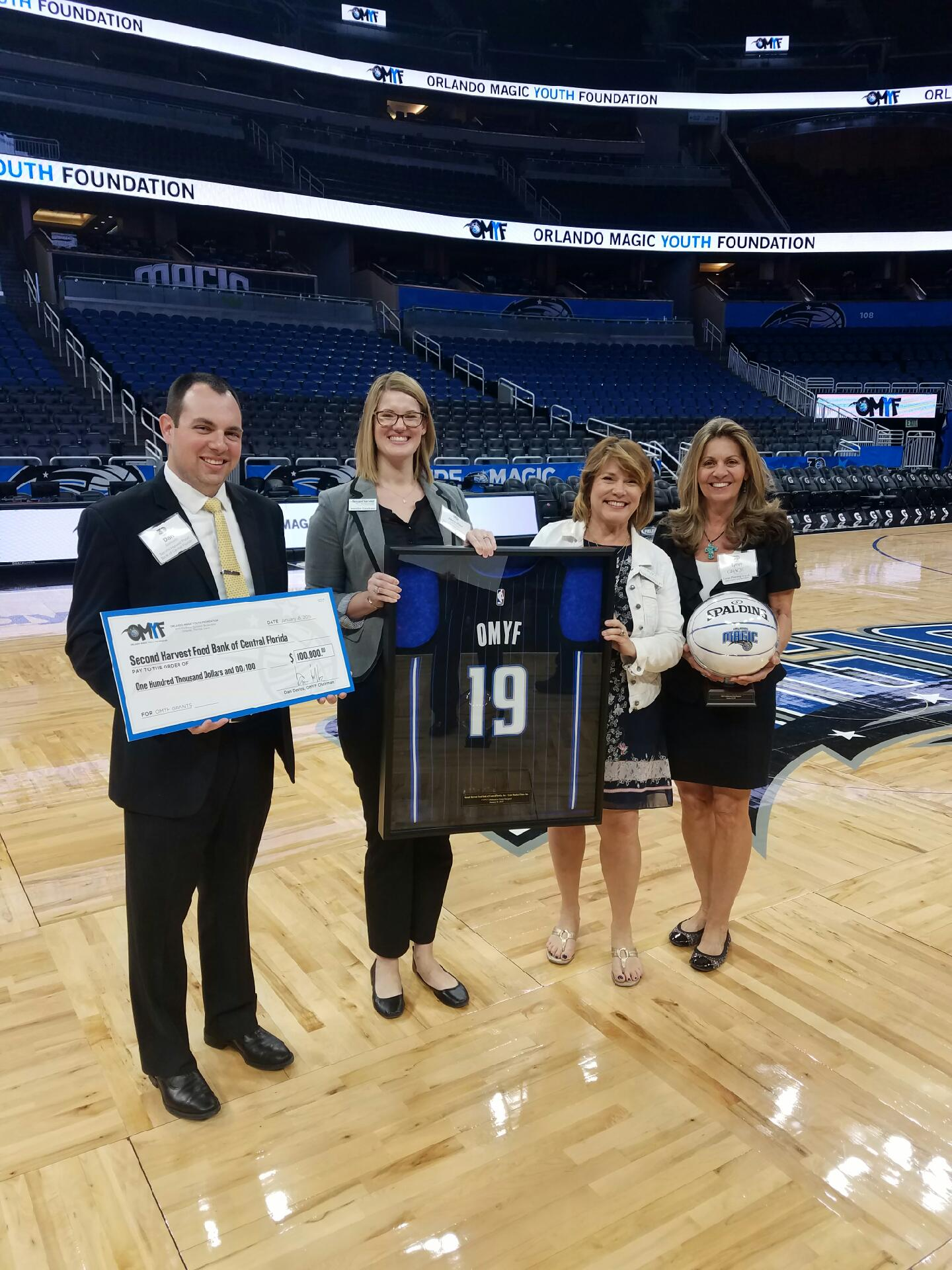 Grace Awarded Grant from Orlando Magic Youth Foundation to Support Pediatric Nutrition Program - January 18, 2019