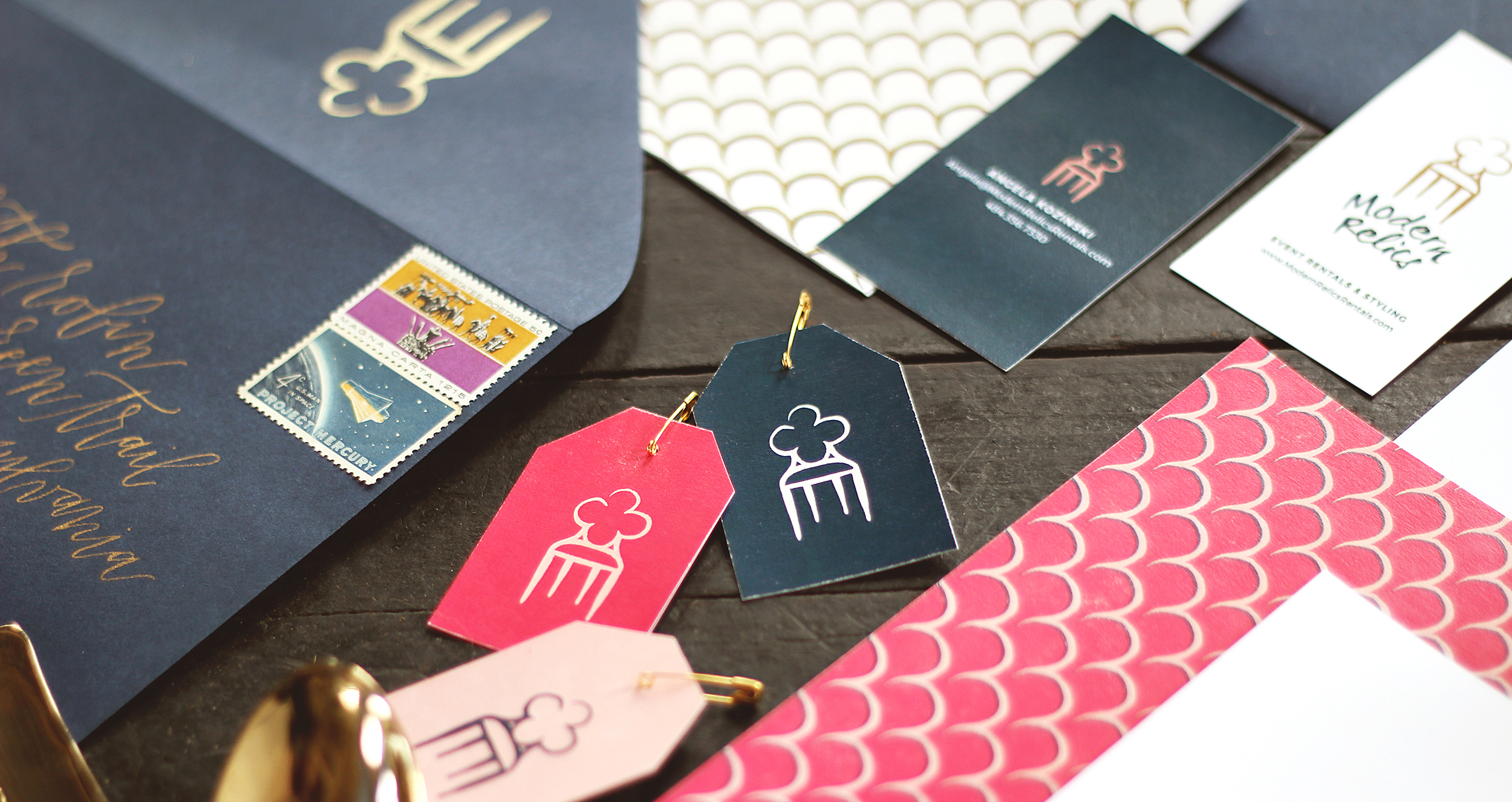 Wellstruck // Brand strategy and design for boutique rental company Modern Relics