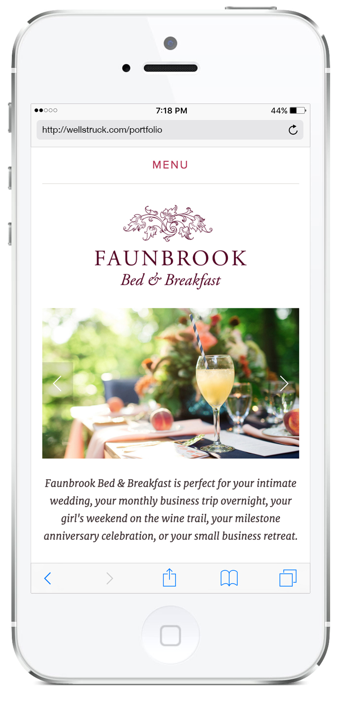 Wellstruck // Brand strategy and design for Faunbrook Bed & Breakfast
