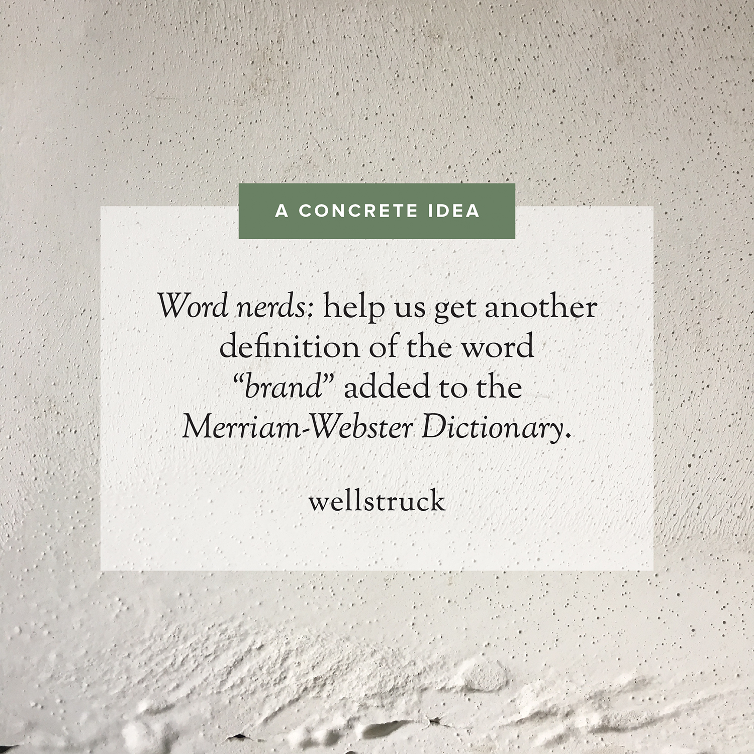 Definition of the word brand // Wellstruck