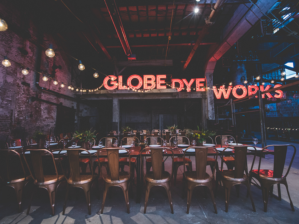 Birchtree Supper Club at Globe Dye Works (photo by  BG Productions )