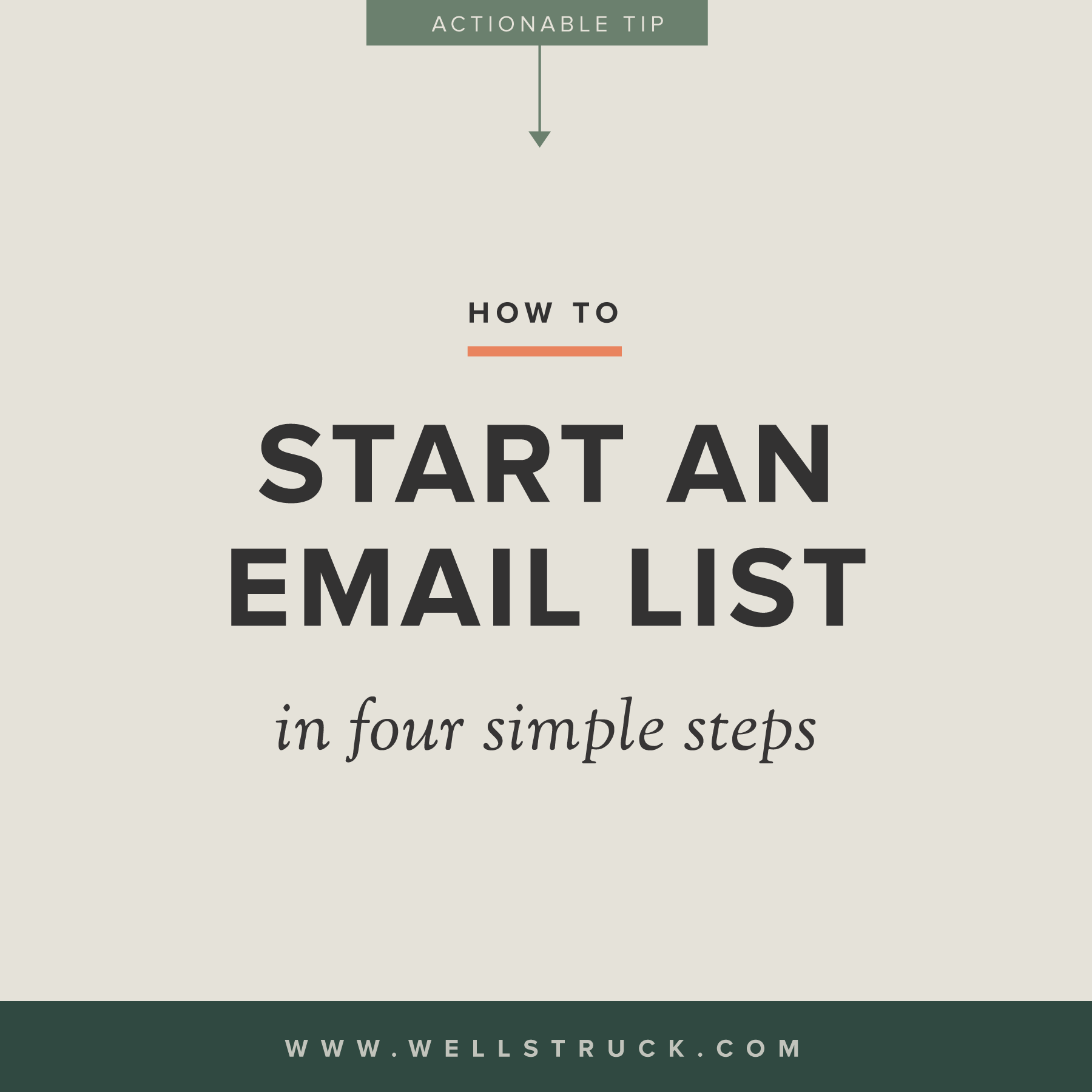 How to start an e-mail list in four simple steps