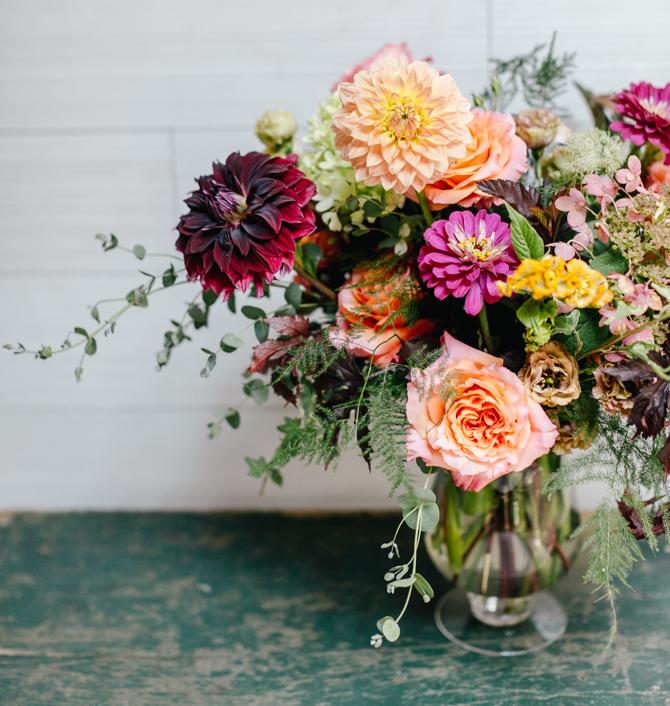 Wellstruck Lady Boss | A floral arrangement at Vault + Vine