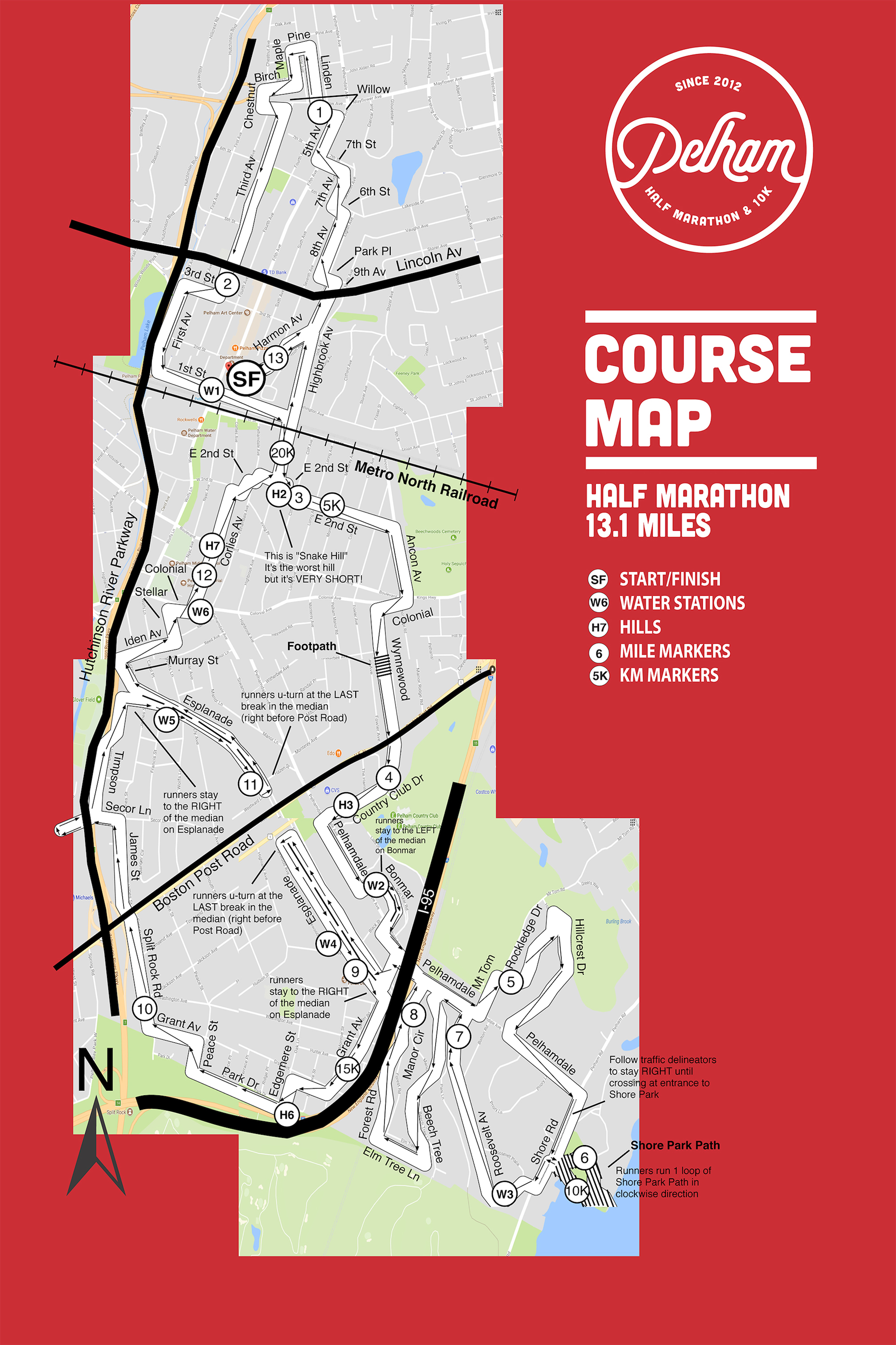 2017 PHM Half Marathon Course Map