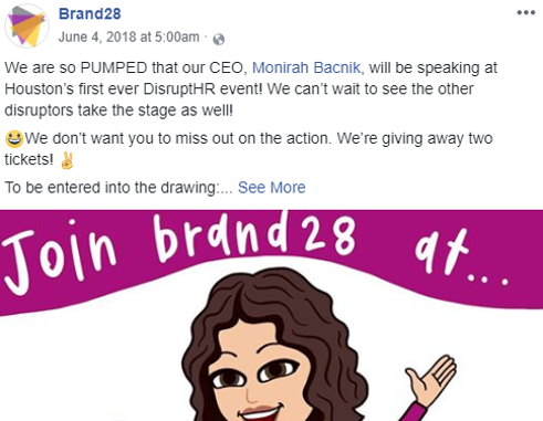 Like AND share this post on Facebook. Don't forget to tag brand28!