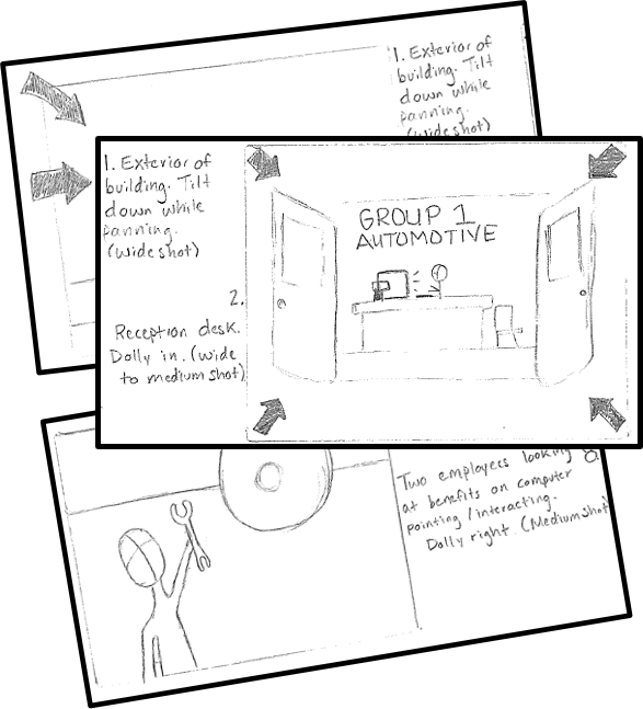 All of our videos at brand28 start off with a storyboard. This acts as our blueprint going into the project.