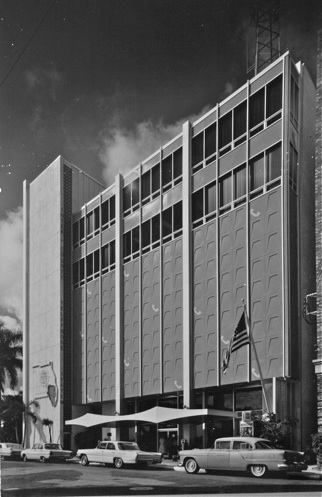 Inter-County Telephone and Telegraph building, Gundersen & Wilson Architects, 1961. Nelson Photography