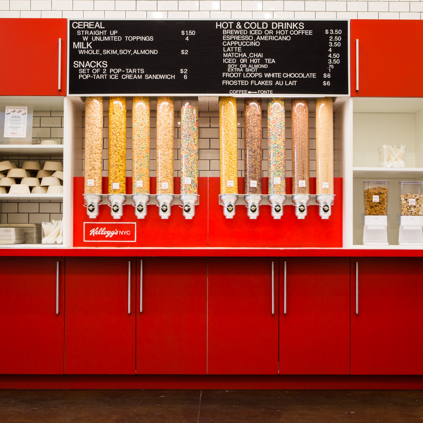 Unlimited Cereal & Toppings Bar -