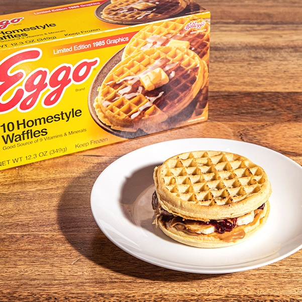 Eggo Cookie Butter & Jelly Sandwiches -