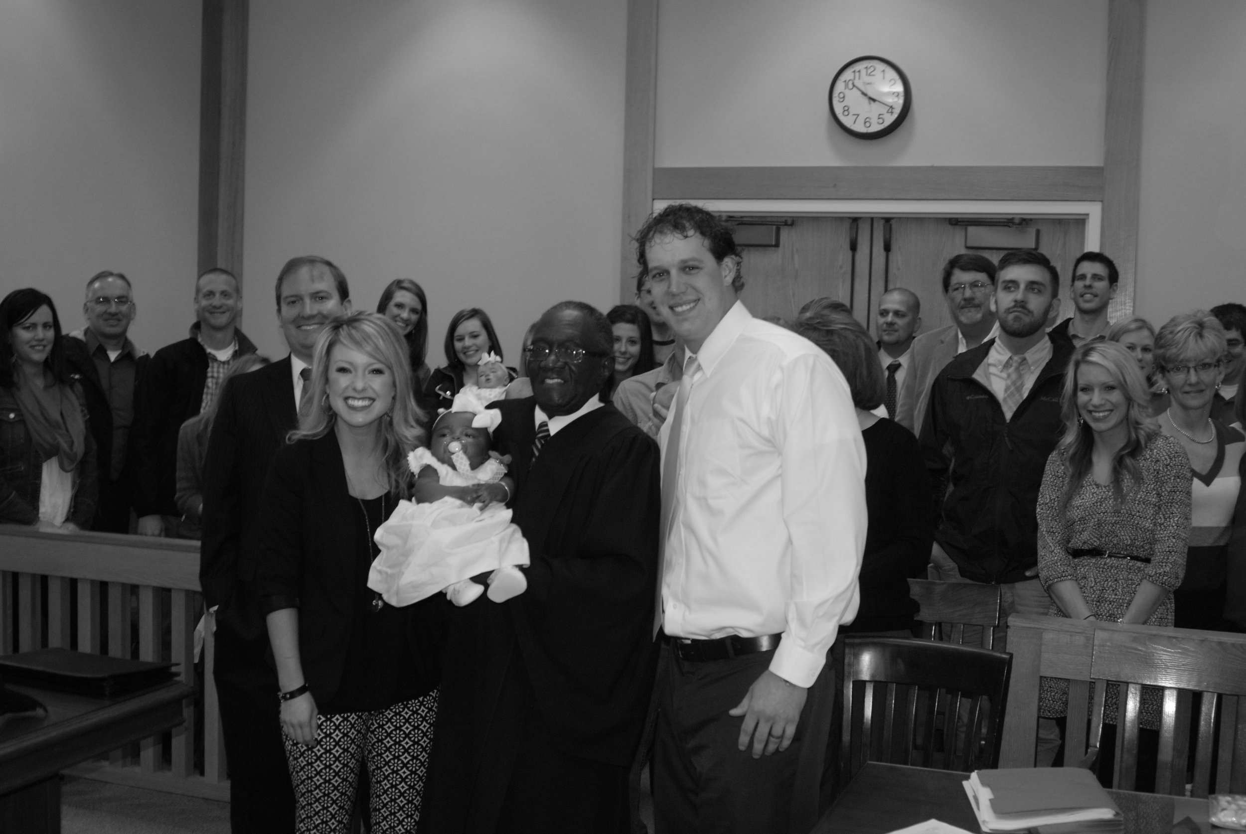 We literally had so many people come to support us, our lawyer was nervous! He said he had never seen so many people fit in that courtroom before! It was a precious day!