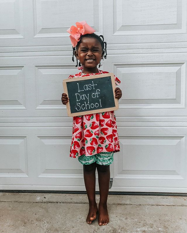 Last day of 4K! Next stop kindergarten. Somebody hold me. 😭 #selahgrace #selahgoestoschool #gracewhilewewait