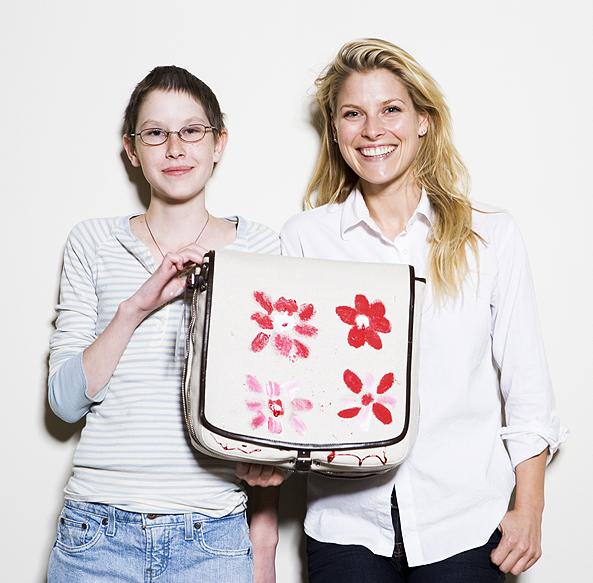 Sophia Popovski and Ali Larter showing off their latest design