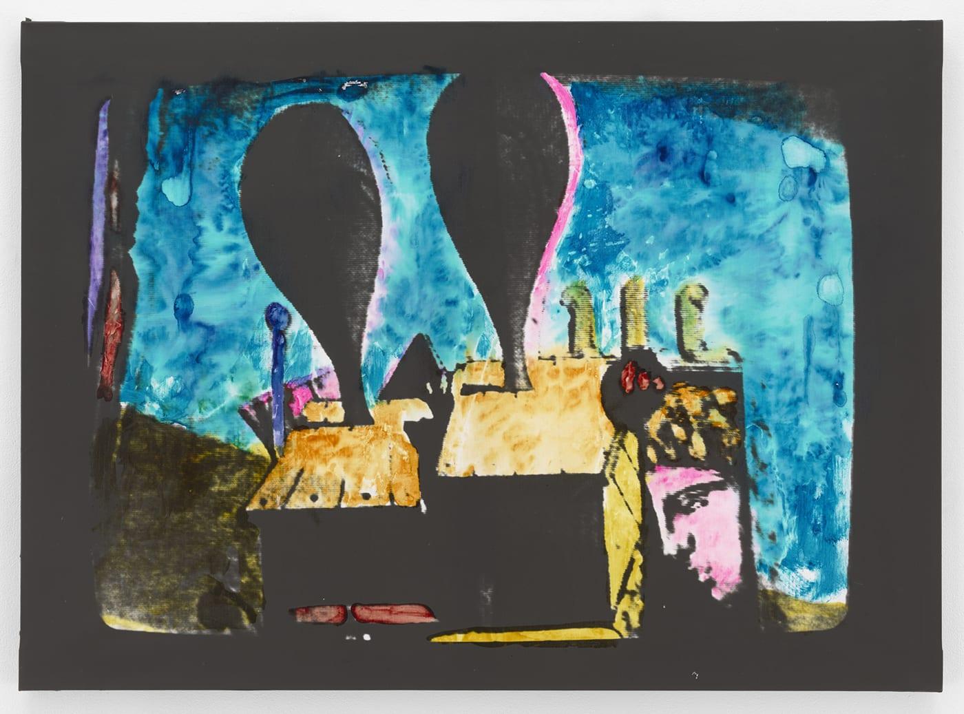 Mario Schifano, Paesaggio TV, 1976 Paint on emulsioned canvas - 31.5 × 43 in. (80 × 109.2 cm.)