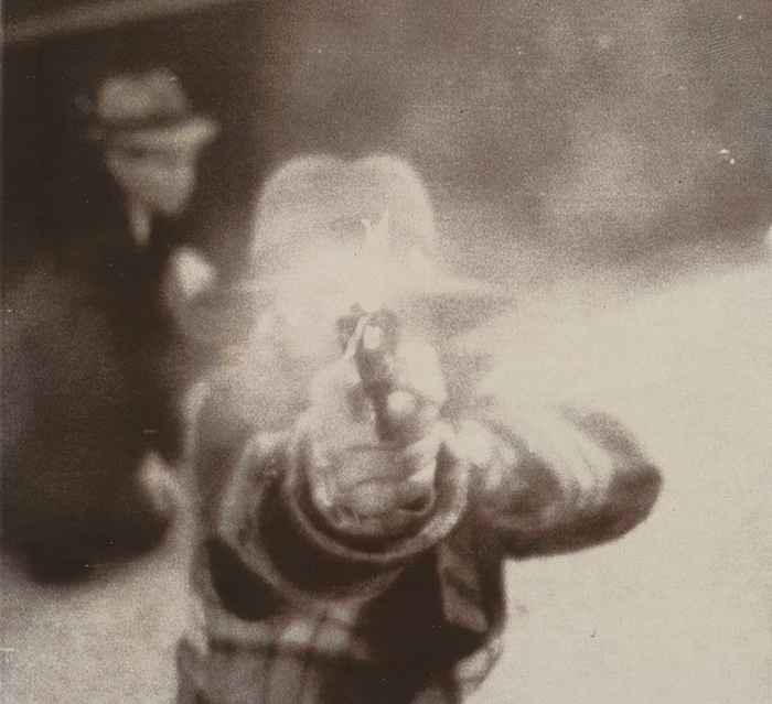1975 Bank Robber Aiming at Security Camera, Cleveland, Ohio, March 8.jpg
