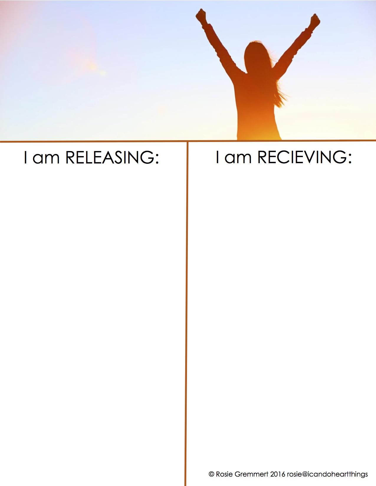 Release & Receive Worksheet