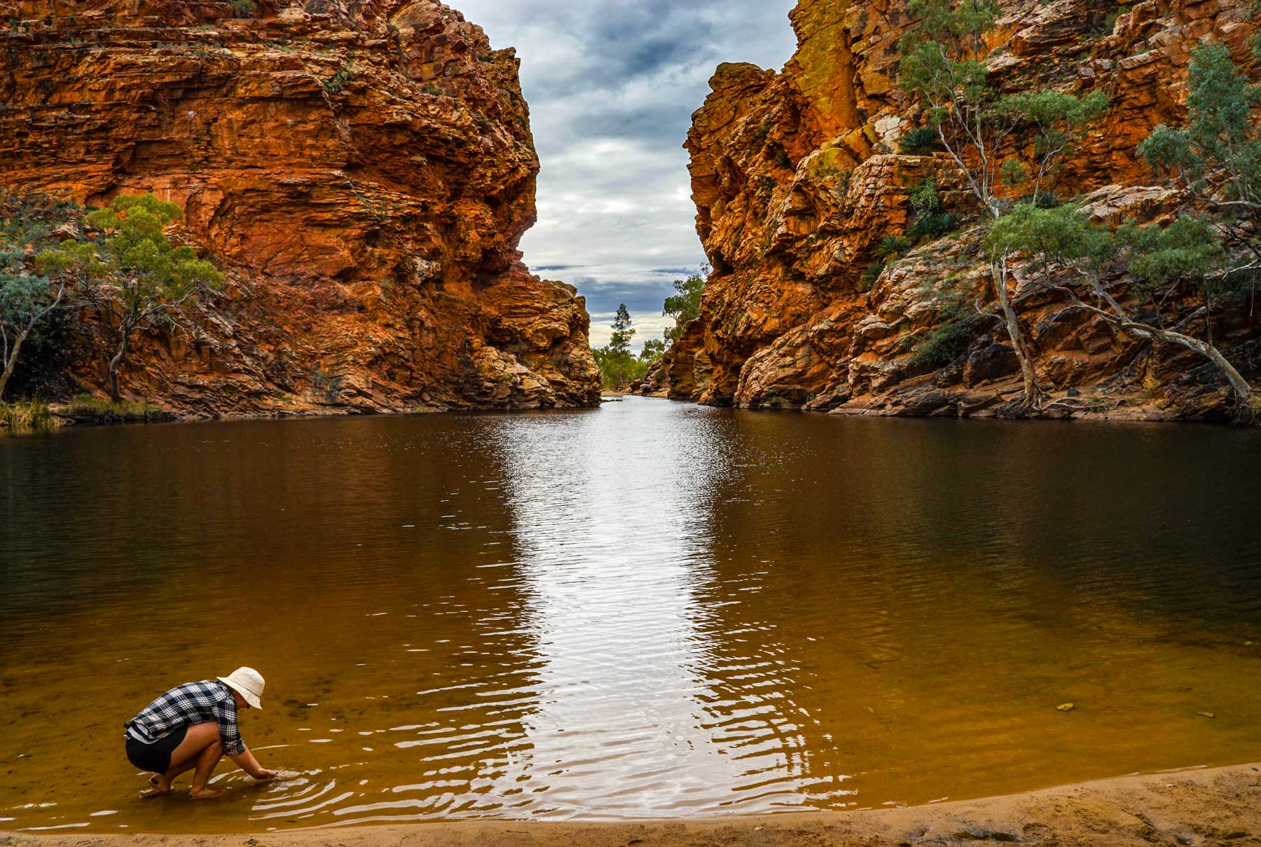 Ellery Creek Big Hole is an awesome spot for a swim and to soak your feet in some cool water.