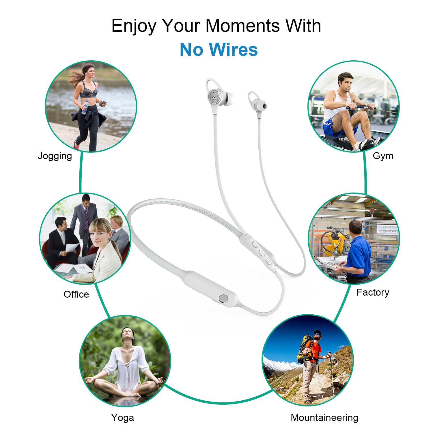 Avoid Noise - Advanced active noise cancelling (ANC) technology free yourself from external noise, airplane cabin noise, city traffic or busy office by flipping the switch when you needed.